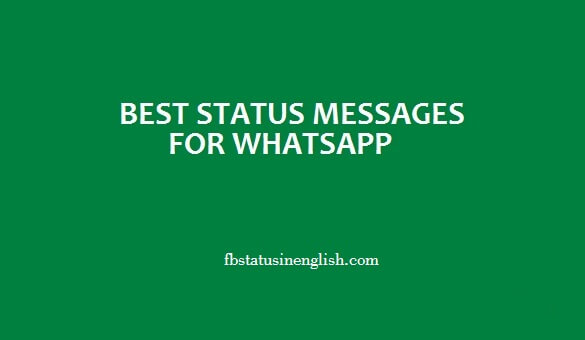 best status messages for whatsapp