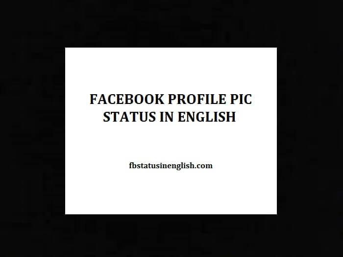 Facebook profile pic status in English