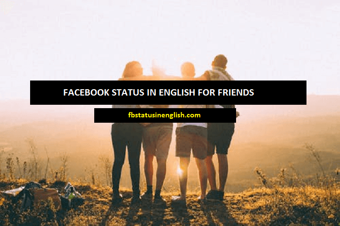 facebook status in english for friends