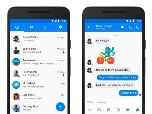 Copy Messages From Facebook Messenger android