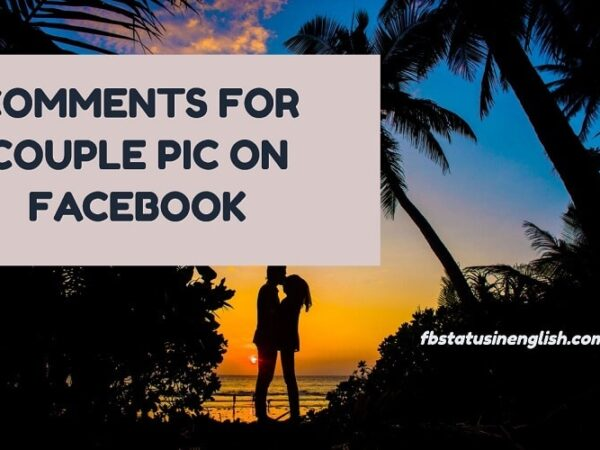 comments for couple pic on facebook