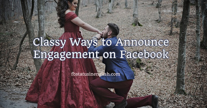 Classy Way to Announce Engagement on Facebook