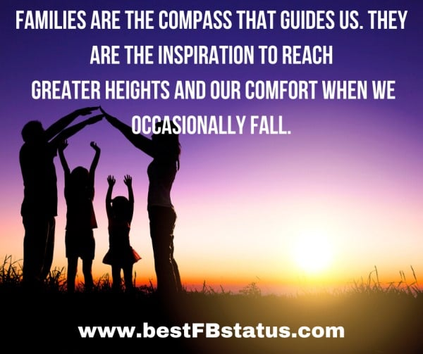 inspirational quote for beautiful family pictures comments with family background